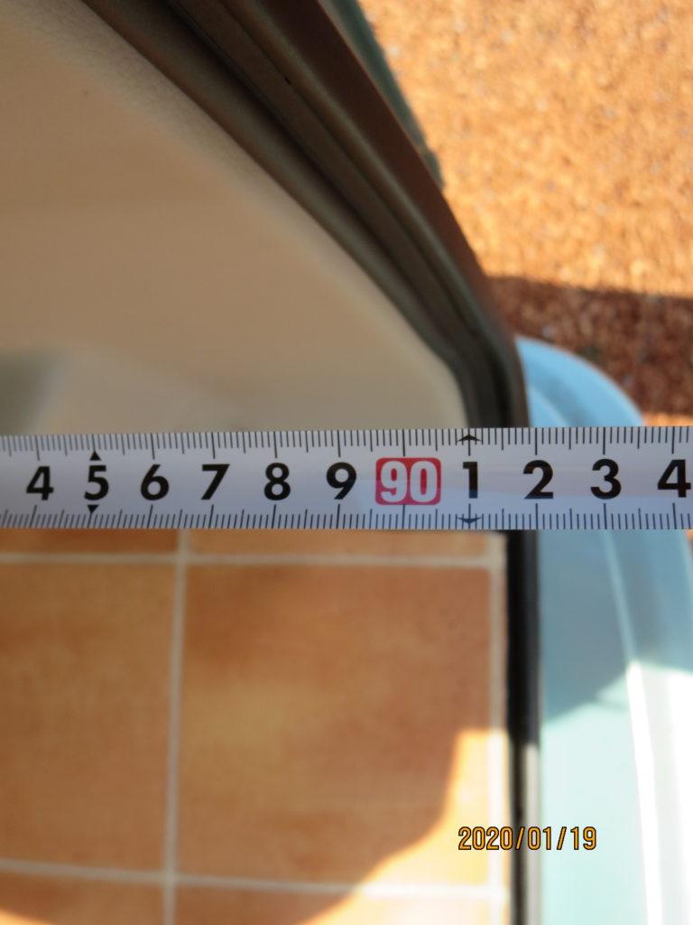 エブリィワゴンの荷室サイズ サイズ測定 91cmと表示される