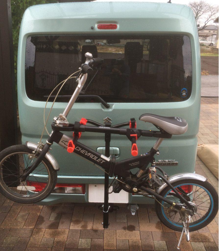 ヒッチキャリアに自転車