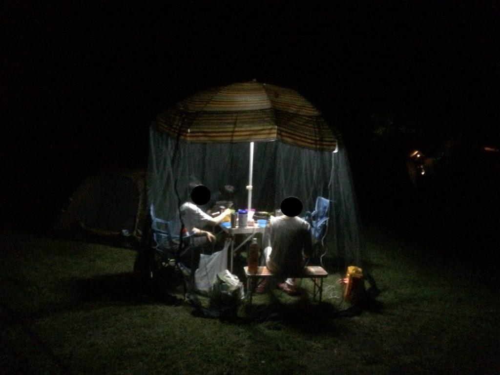 パラソルと蚊帳