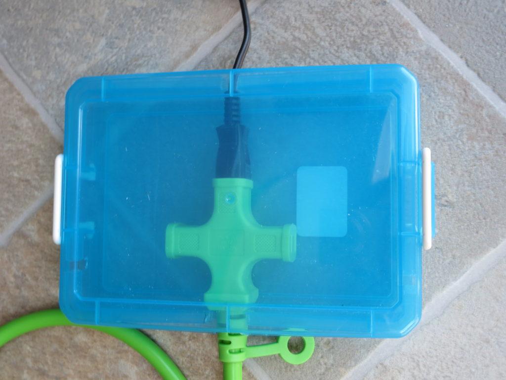 幌馬車くんの外部電源取り込み用の電源カバー作成