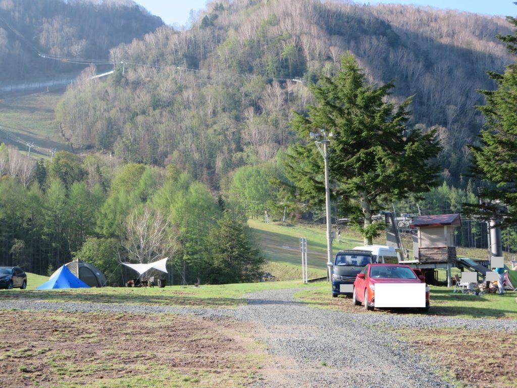 丸沼高原オートキャンプ場のテントサイト風景