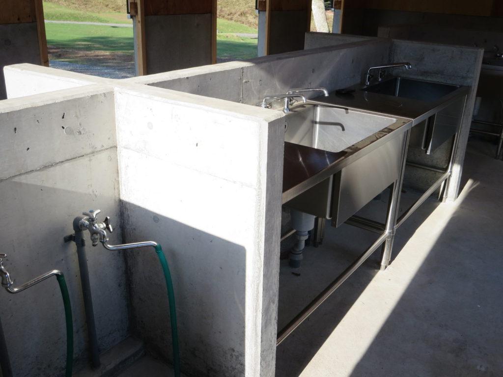 丸沼高原オートキャンプ場の中腹の水場 水道
