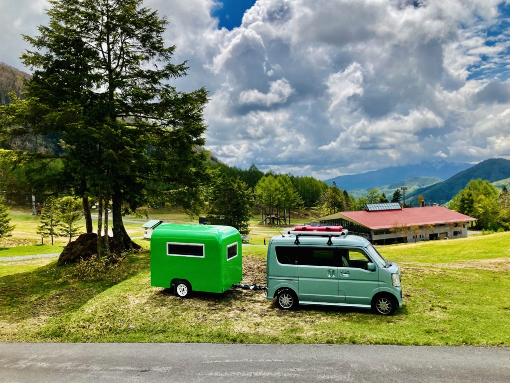 軽自動車キャンプと軽キャンピングトレーラーの牽引