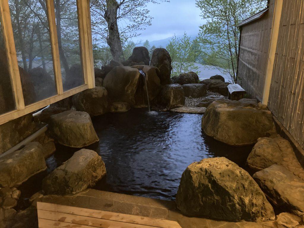 シャレー丸沼の施設内にある座禅温泉