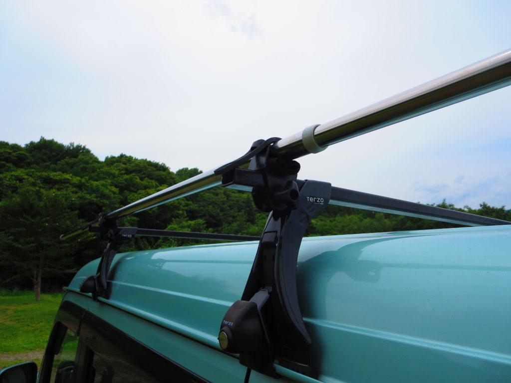 上毛高原キャンプグランドの軽キャンプタープの設営