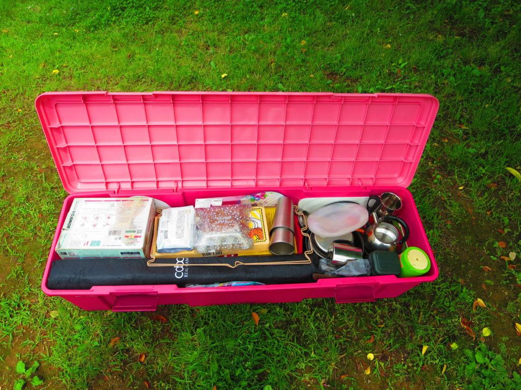 上毛高原キャンプグランドの荷物RVBOX