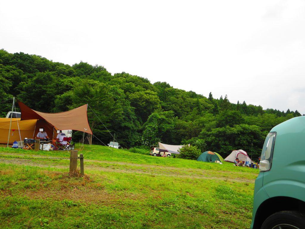 上毛高原キャンプグランドの軽キャンプ