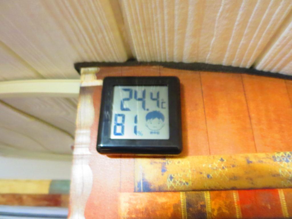 軽キャンピングトレーラーの幌馬車くんの室内温度