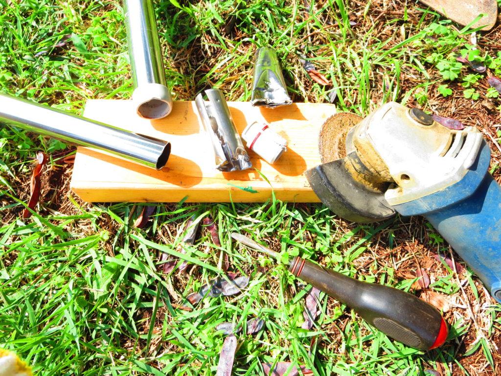 物干竿の修理