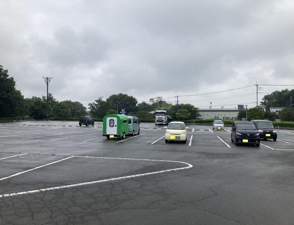 道の駅の赤城の恵み併設のあいのやまの湯の駐車場