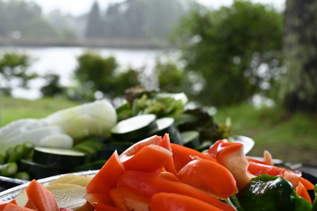 幌馬車くんと蓼の花オートキャンプ場 綺麗な野菜カット