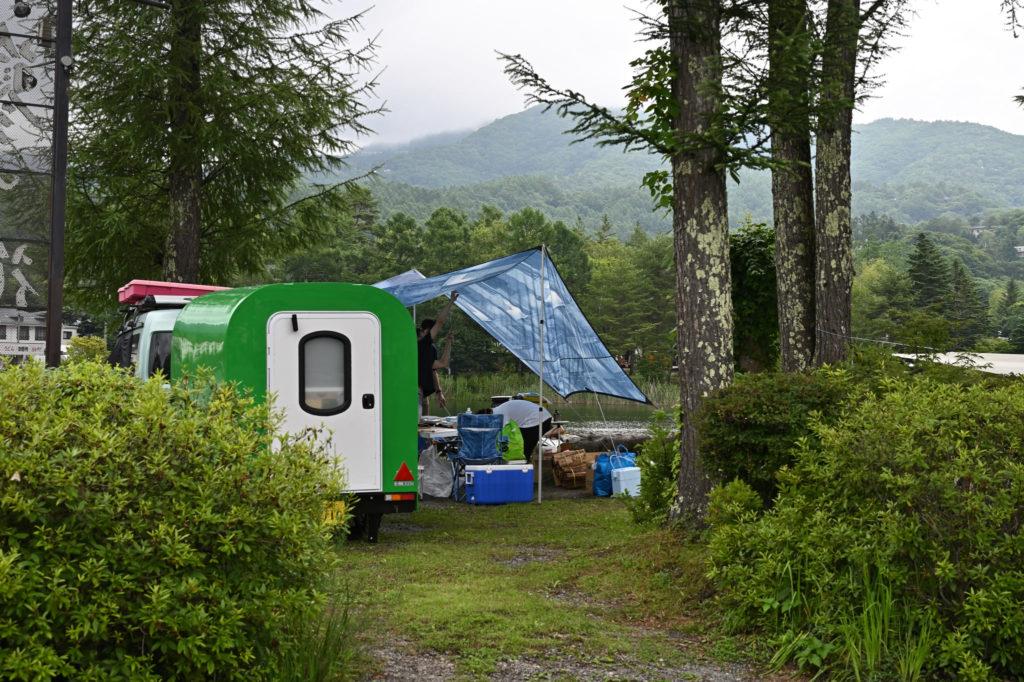 幌馬車くんと蓼の花オートキャンプ場キャンプ風景
