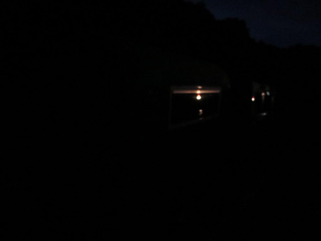 草津温泉、天狗第一駐車場の車中泊の駐車場夜