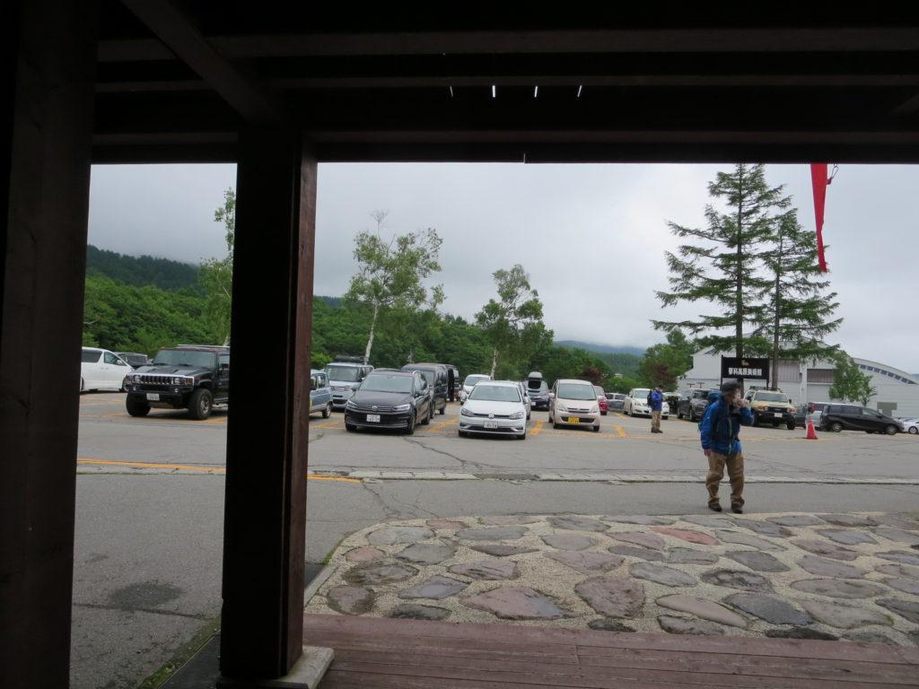 坪庭自然園の北八ヶ岳ロープウエイ乗り場