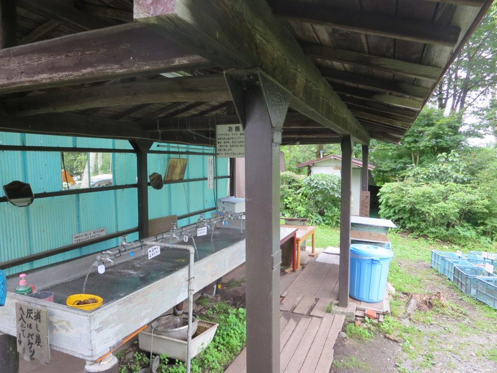蓼の花オートキャンプ場の炊事場