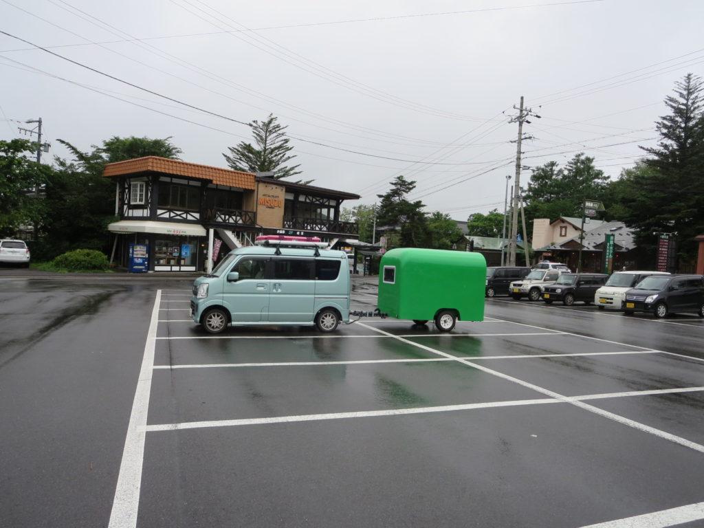 道の駅ビーナスライン蓼科湖と幌馬車くん