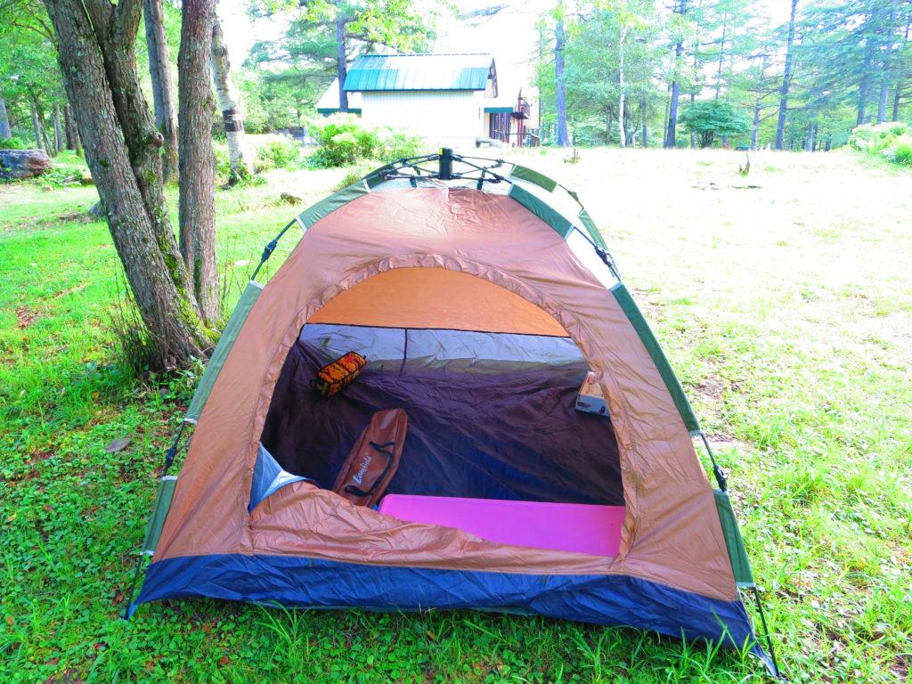 霧ヶ峰キャンプを幌馬車くんで行く テント