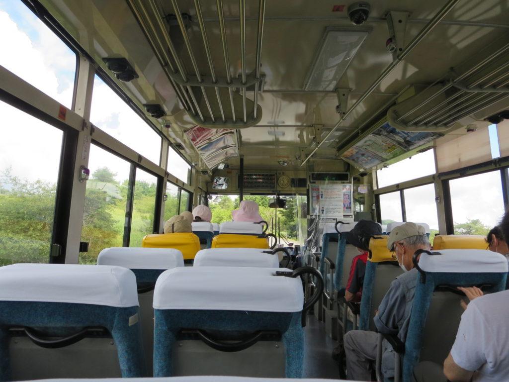 八島湿原ハイキング 路線バス
