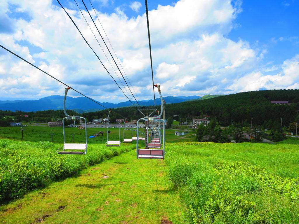 霧ヶ峰スキー場 リフト 夏