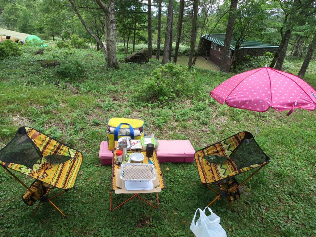 霧ヶ峰キャンプ場 キャンプ道具