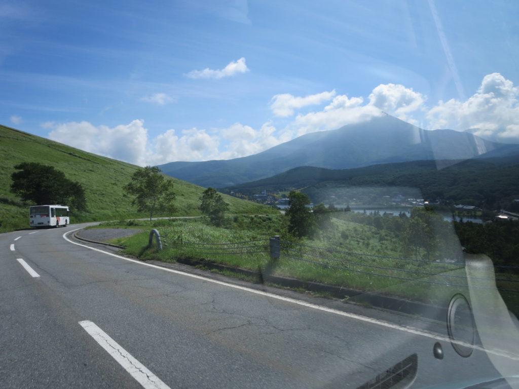 霧ヶ峰キャンプを幌馬車くんで行く 白樺湖付近