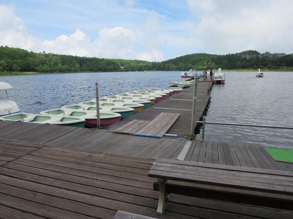 女神湖の桟橋