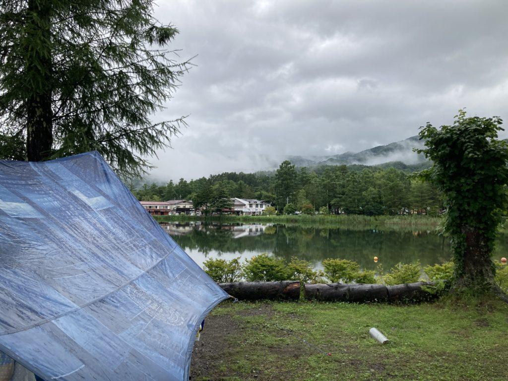 幌馬車くんと蓼の花オートキャンプとタープ