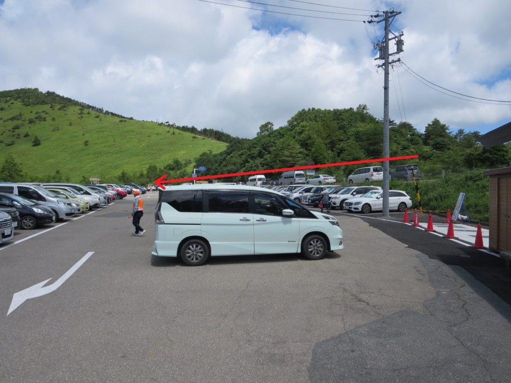 八島ビジターセンターの駐車場