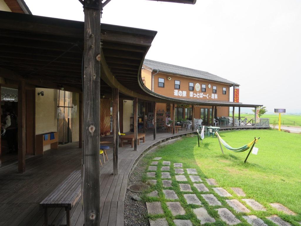 道の駅「ほっとぱ~く・浅科」の中庭