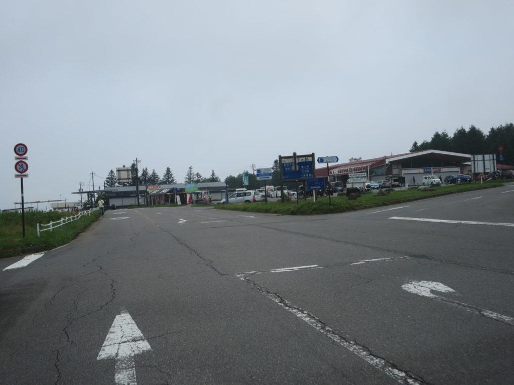 霧の駅スキー場で車中泊とキャンピングトレーラーの幌馬車くん 霧の駅