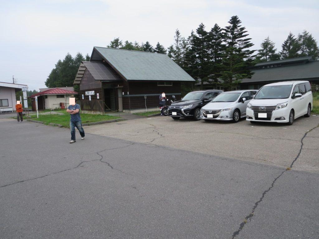霧の駅スキー場で車中泊とキャンピングトレーラーの幌馬車くん トイレ