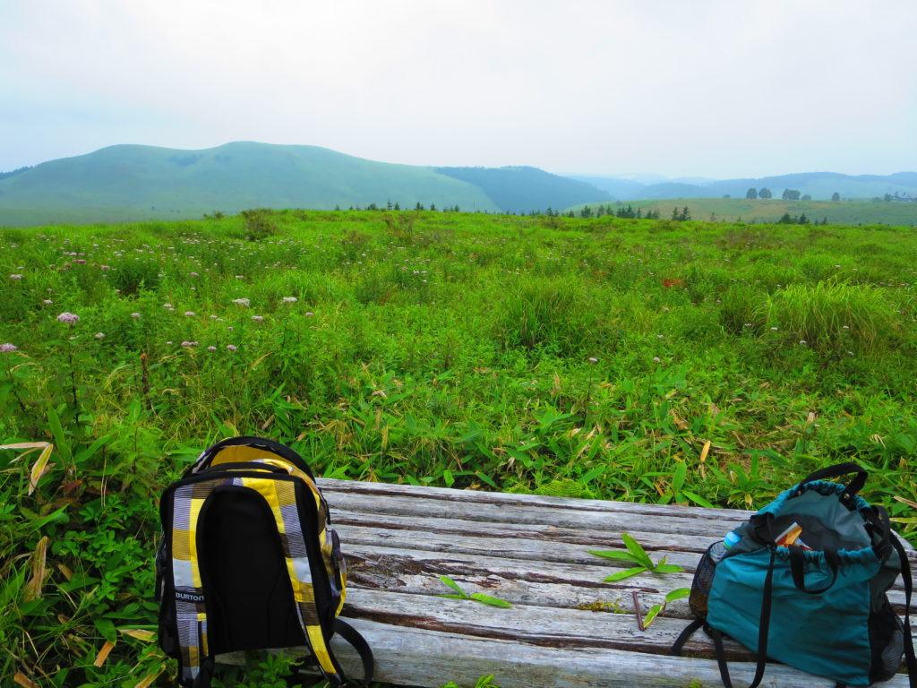 霧の駅スキー場で車中泊とキャンピングトレーラーの幌馬車くん 車山湿原ハイキング