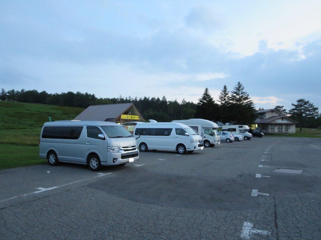 霧ヶ峰スキー場の駐車場車中泊 キャンピングカーやバンコン