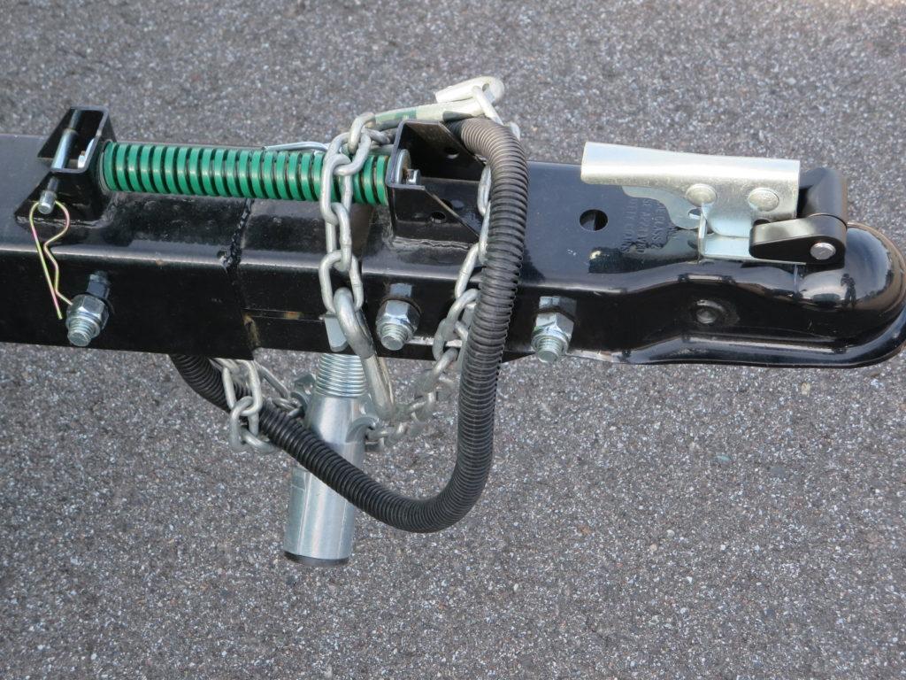 霧ヶ峰スキー場の駐車場車中泊 トレーラーの連結