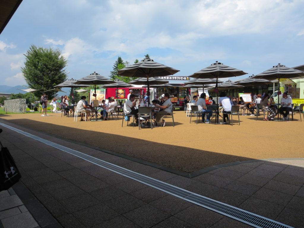 軽井沢ショッピングモールとキャンピングトレーラーの幌馬車くんの車中泊 ショッピング
