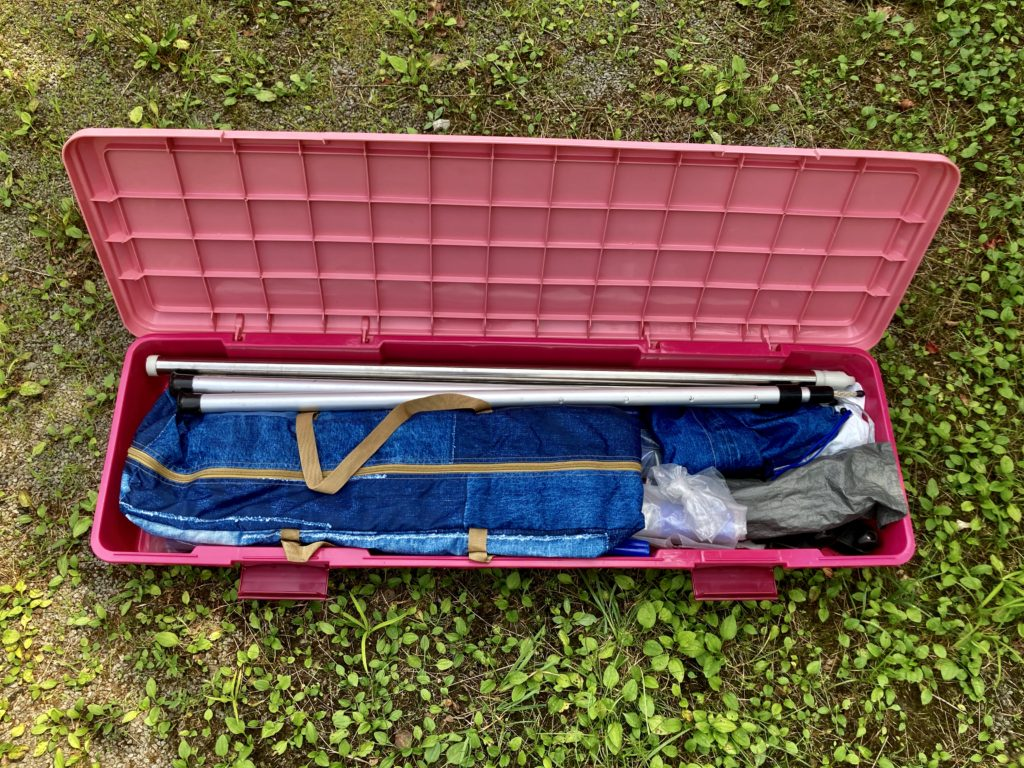 わらび平森林公園キャンプ場を軽キャンピングトレーラーの幌馬車くんでキャンプのRVBOX