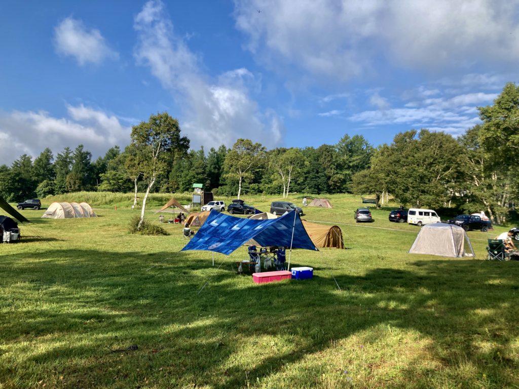 武尊牧場キャンプ場に幌馬車くんの軽キャンピングトレーラーで行く車中泊のキャンプ