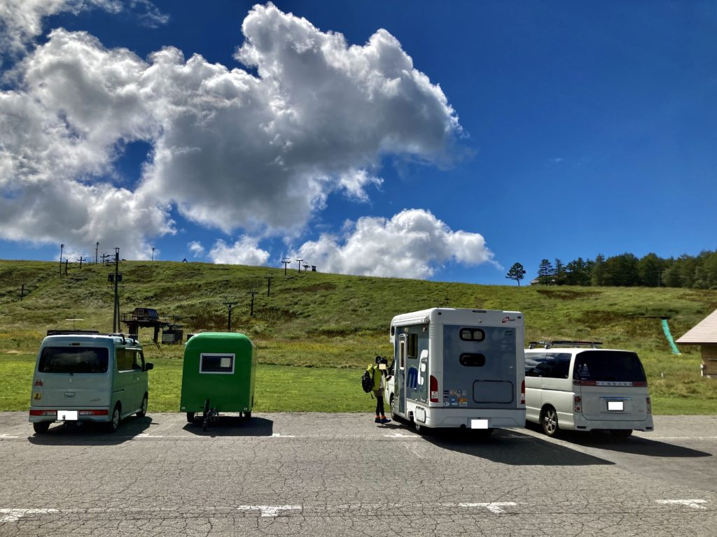 幌馬車くんと行く霧ヶ峰スキー場の車中泊の停車