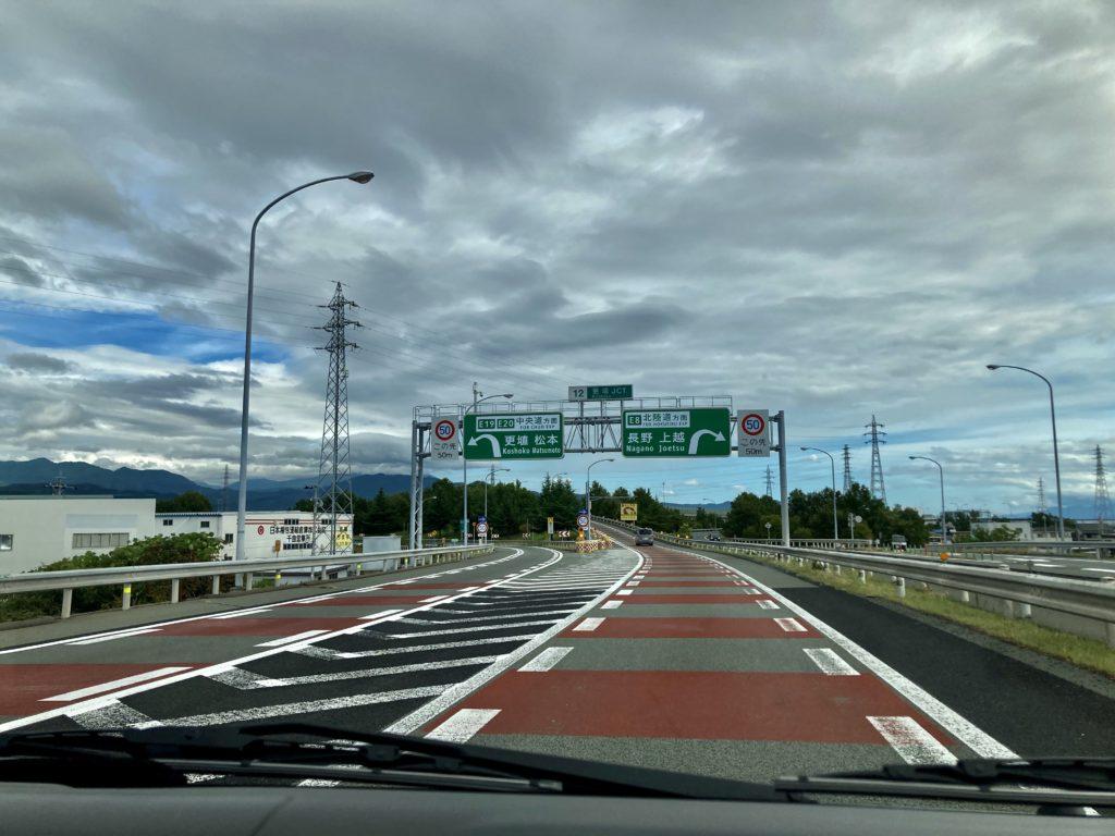 野沢温泉への車中泊の旅、更埴ジャンクション付近