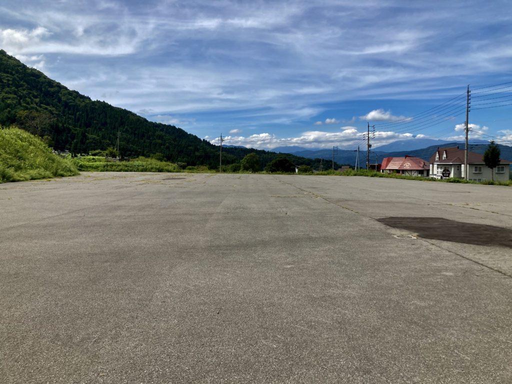 野沢温泉、野沢温泉スキー場の第二駐車場に到着