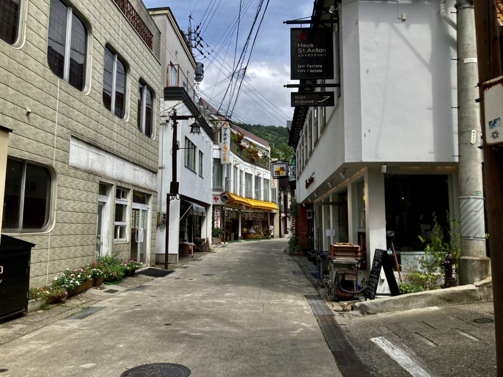 野沢温泉の温泉街