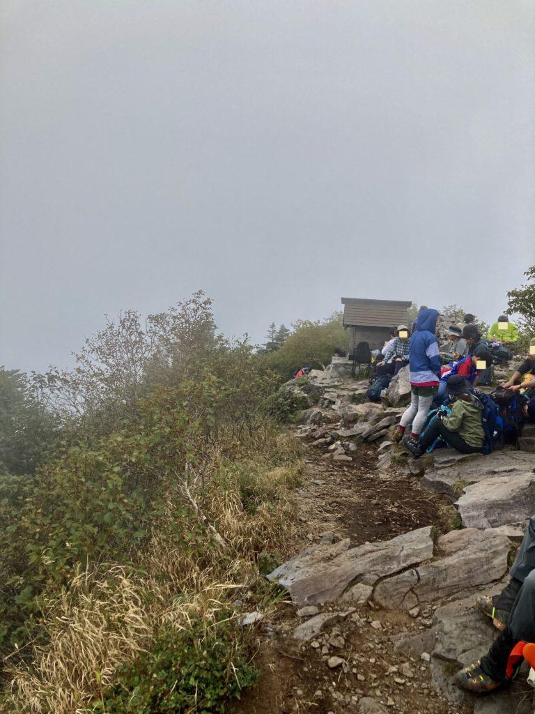 パルコール嬬恋ゴンドラ山頂からの四阿山登山の山頂