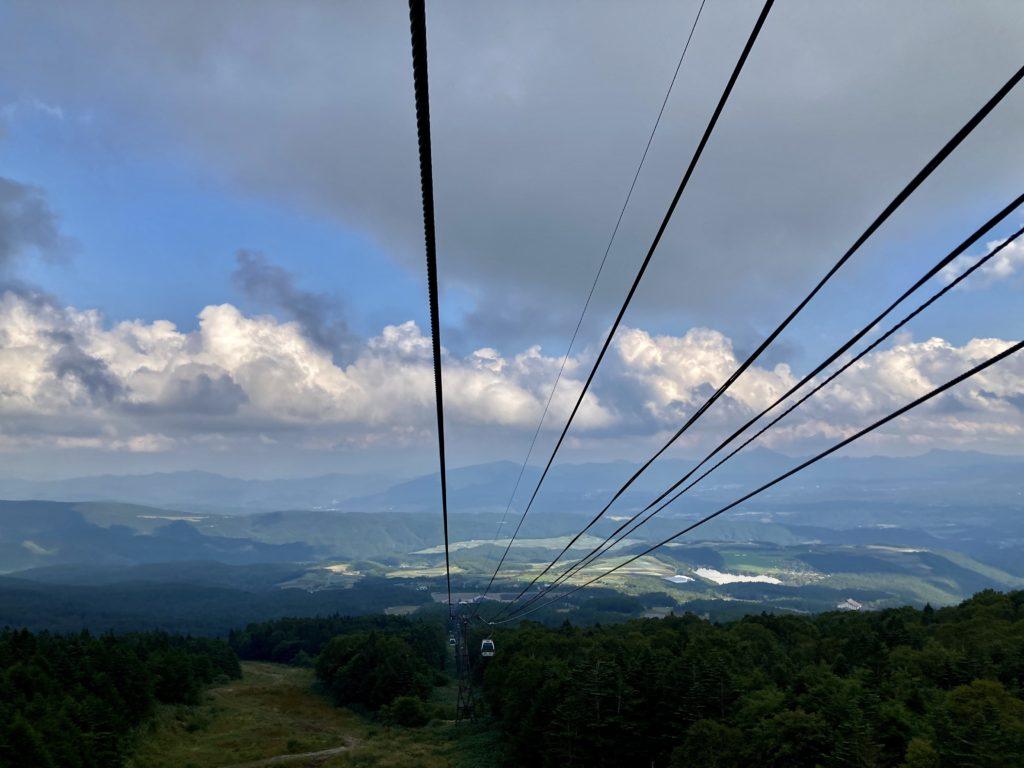 パルコール嬬恋ゴンドラ「パルキャビン」からの風景