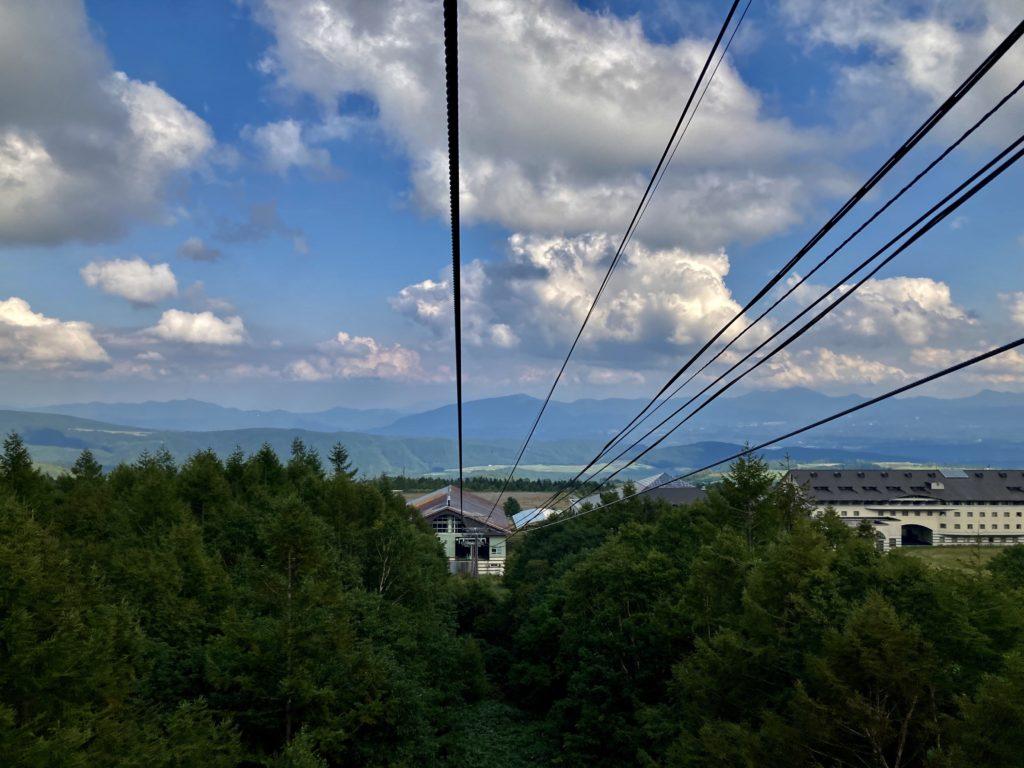 パルコール嬬恋ゴンドラ「パルキャビン」からの風景 リゾートホテル