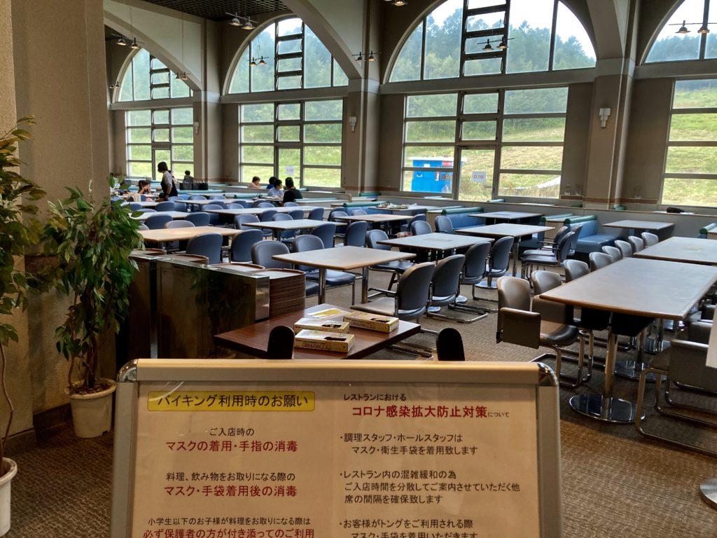 パルコール嬬恋リゾートホテルの朝食バイキングのパルコールカフェの注意書き