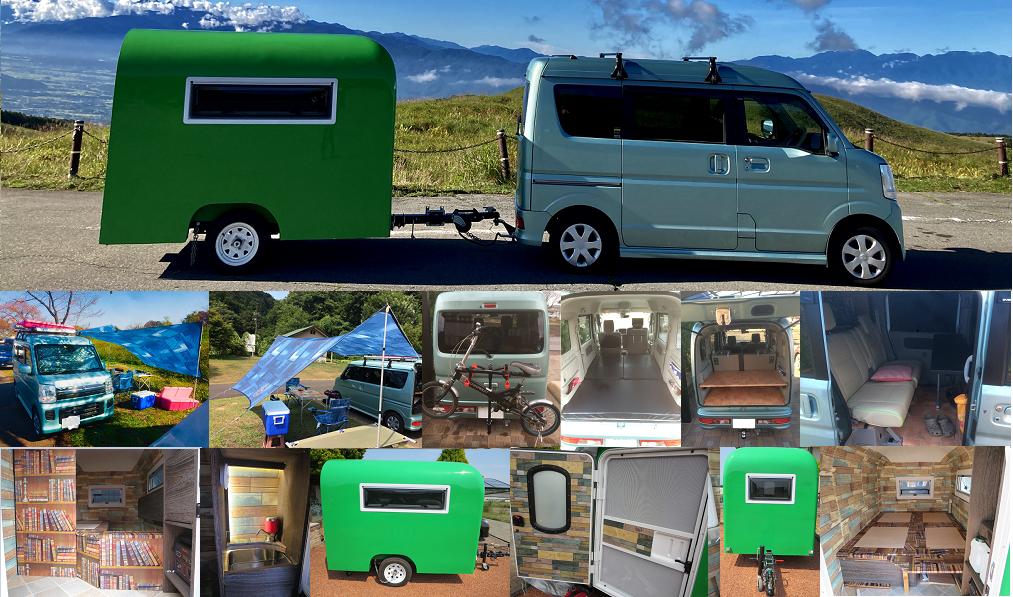 NKJの軽自動車キャンプ