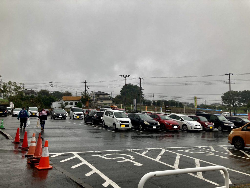 幌馬車くんと行く道の駅「ふじみ」の駐車場