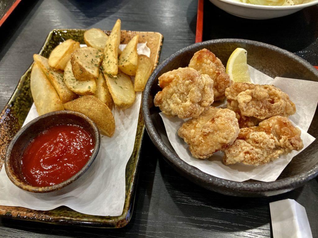冨士見温泉ふれあい館のレストラン赤城のおつまみ