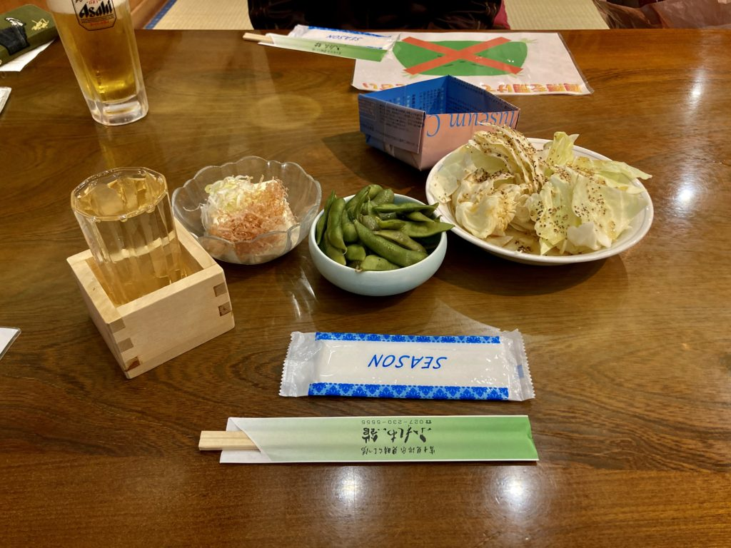 冨士見温泉ふれあい館のレストラン「赤城」の食事