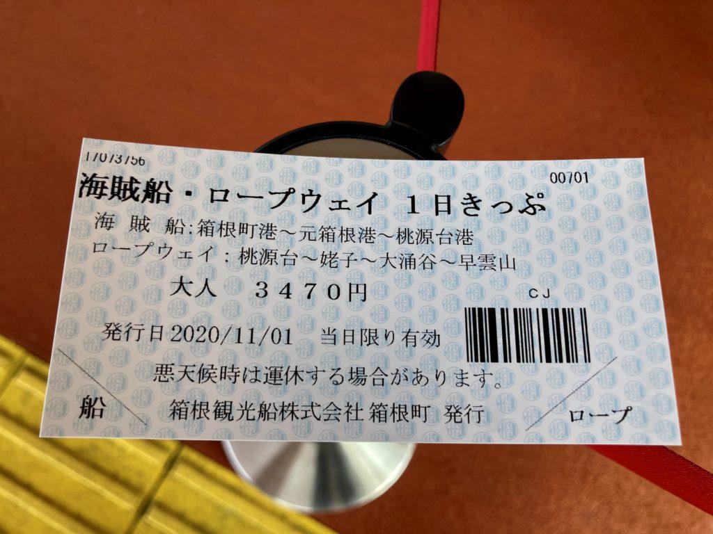 軽キャンピングトレーラーの幌馬車くんで行く箱根の芦ノ湖の海賊船・ロープウェイ1日きっぷ